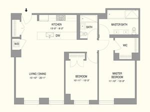 floorplan for 55 West 17th Street #1103