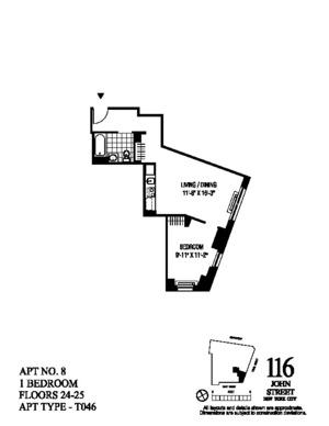 floorplan for 116 John Street #2408