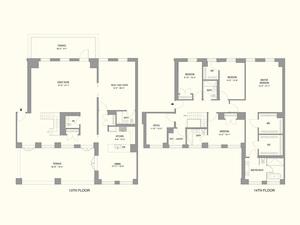 floorplan for 55 West 17th Street #1402