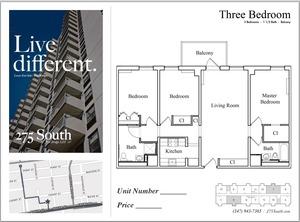 floorplan for 275 South Street #3J