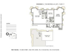 floorplan for 75 West Street #17C