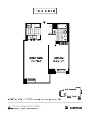 floorplan for 2 Gold Street #4208