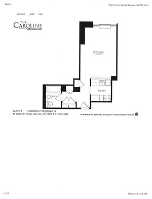 floorplan for 60 West 23rd Street #1105