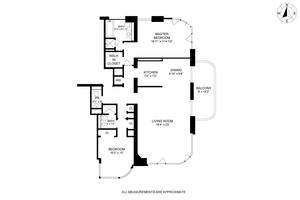 floorplan for 52 East End Avenue #23A