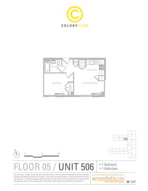 floorplan for 1209 Dekalb Avenue #506