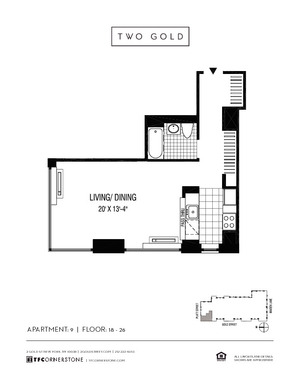 floorplan for 2 Gold Street #2309