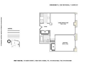 floorplan for 75 West Street #3P