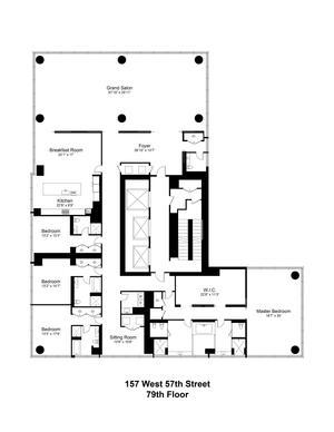 floorplan for 157 West 57th Street #79