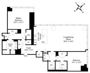 floorplan for 157 West 57th Street #43B