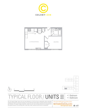 floorplan for 1209 Dekalb Avenue #322