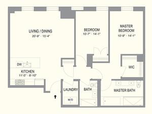 floorplan for 55 West 17th Street #405