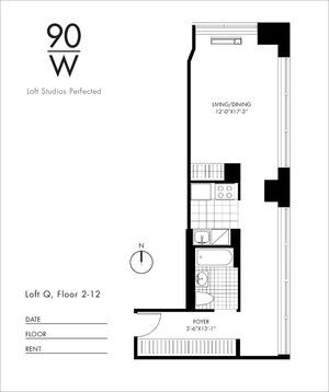 floorplan for 90 Washington Street #10Q