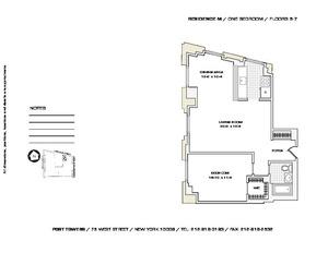 floorplan for 75 West Street #5M