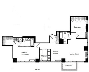 floorplan for 422 East 72nd Street #38B