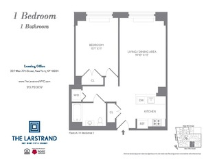 floorplan for 227 West 77th Street #6F