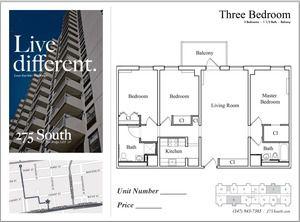 floorplan for 275 South Street #7J