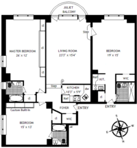 floorplan for 150 Central Park South 1109-1110