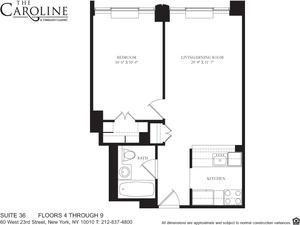 floorplan for 60 West 23rd Street #836