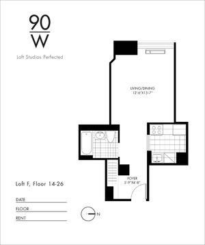 floorplan for 90 Washington Street #22F