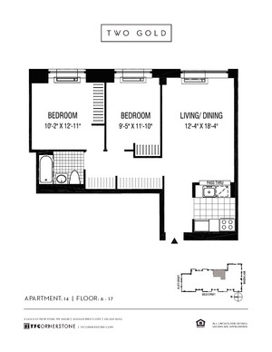 floorplan for 2 Gold Street #1414
