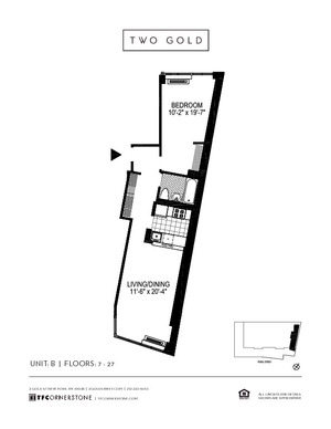 floorplan for 2 Gold Street #20B