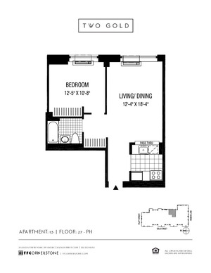floorplan for 2 Gold Street #2913