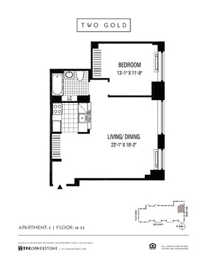 floorplan for 2 Gold Street #2102