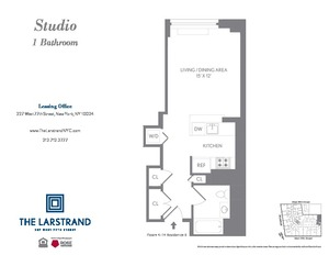floorplan for 227 West 77th Street #6B