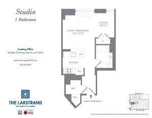 floorplan for 227 West 77th Street #6H