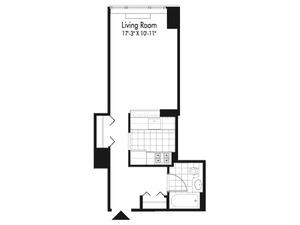 floorplan for 601 West 57th Street #25K