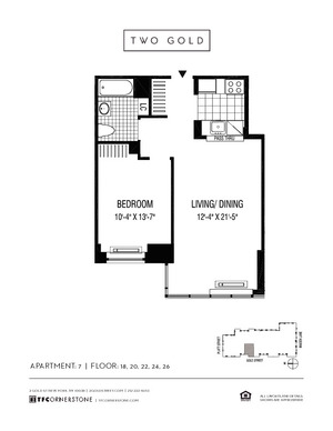 floorplan for 2 Gold Street #2007