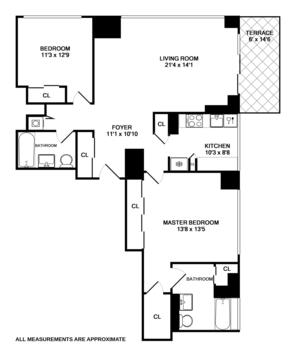 floorplan for 422 East 72nd Street #8C
