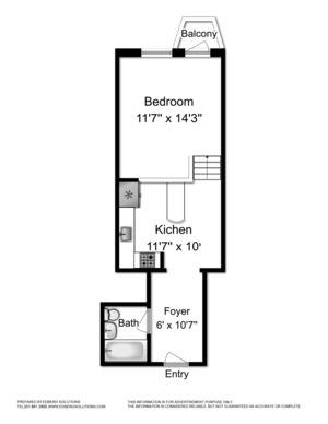 floorplan for 211 Thompson Street #5L