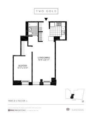 floorplan for 2 Gold Street #3D