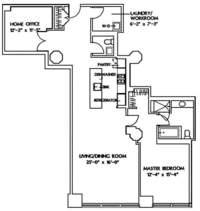 floorplan for 1 Main Street #8K