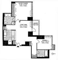 floorplan for 422 East 72nd Street #3H