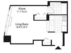 floorplan for 601 West 57th Street #22B