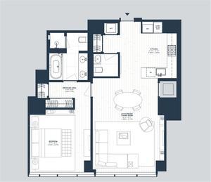 floorplan for 157 West 57th Street #42C