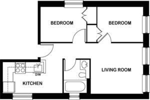 floorplan for 318 East 84th Street #1R