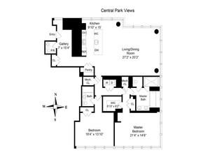 floorplan for 157 West 57th Street #40F