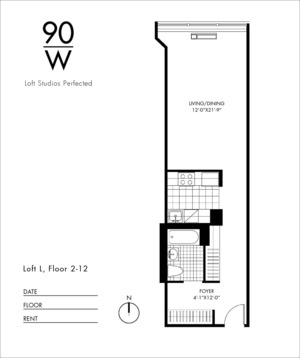 floorplan for 90 Washington Street #7L