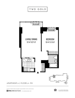 floorplan for 2 Gold Street #3911