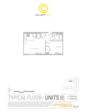 floorplan for 1209 Dekalb Avenue #408