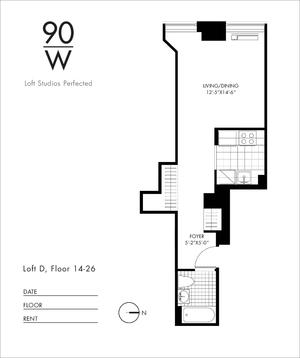 floorplan for 90 Washington Street #22D