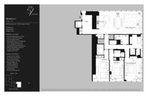 floorplan for 157 West 57th Street #34F