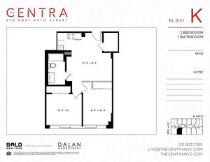 floorplan for 230 East 44th Street #8K