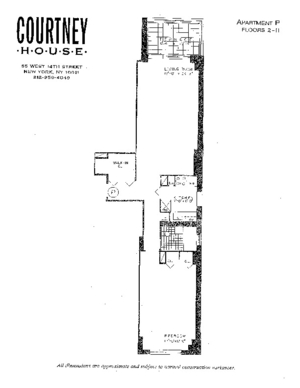 floorplan for 55 West 14th Street #11P
