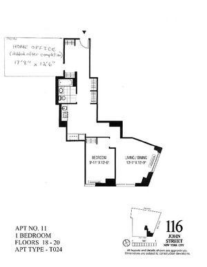 floorplan for 116 John Street #2011