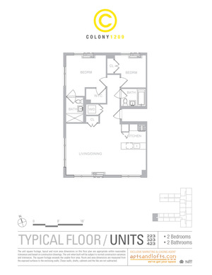floorplan for 1209 Dekalb Avenue #2223