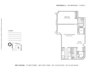 floorplan for 75 West Street #3K